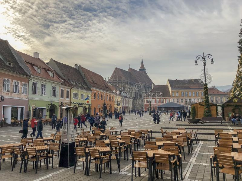 BraÅŸov architektura podróżuje Romania fotografia royalty free