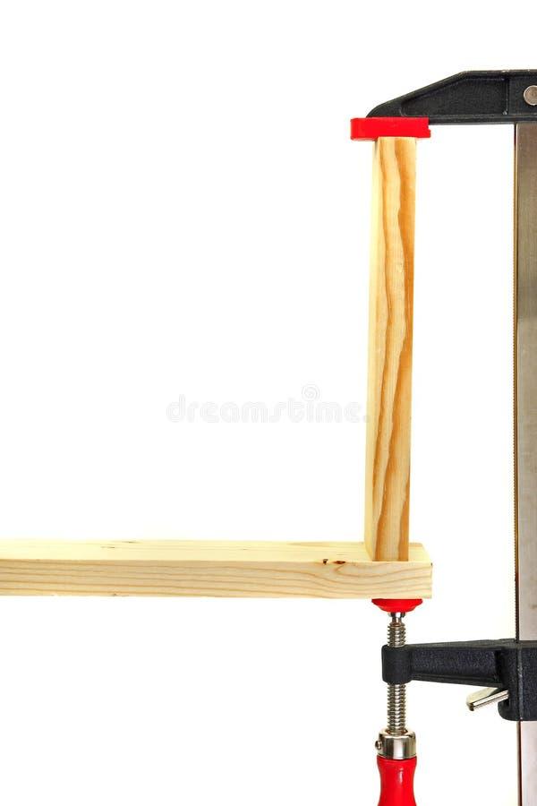 Braçadeira de madeira fotos de stock