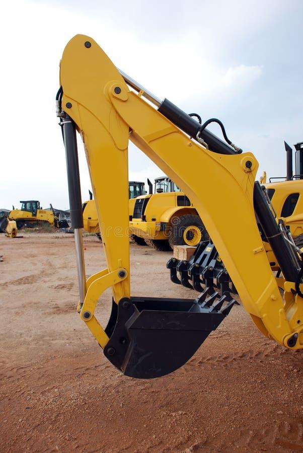 Braço das máquinas escavadoras imagens de stock royalty free