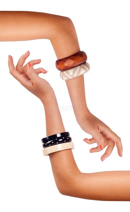 Braços - bracelete imagem de stock