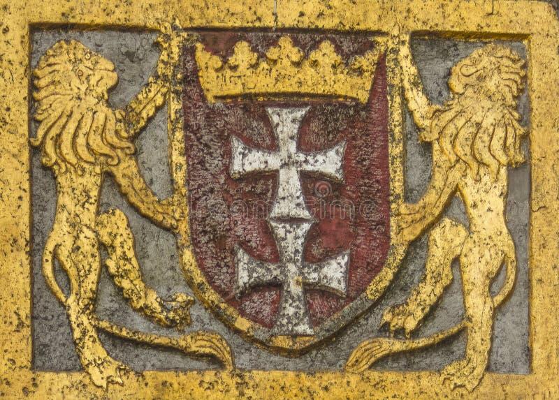 Braços de Gdansk imagem de stock