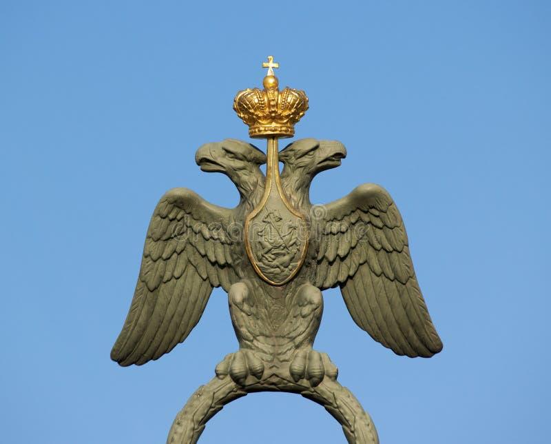 Braços de Rússia com águia foto de stock royalty free
