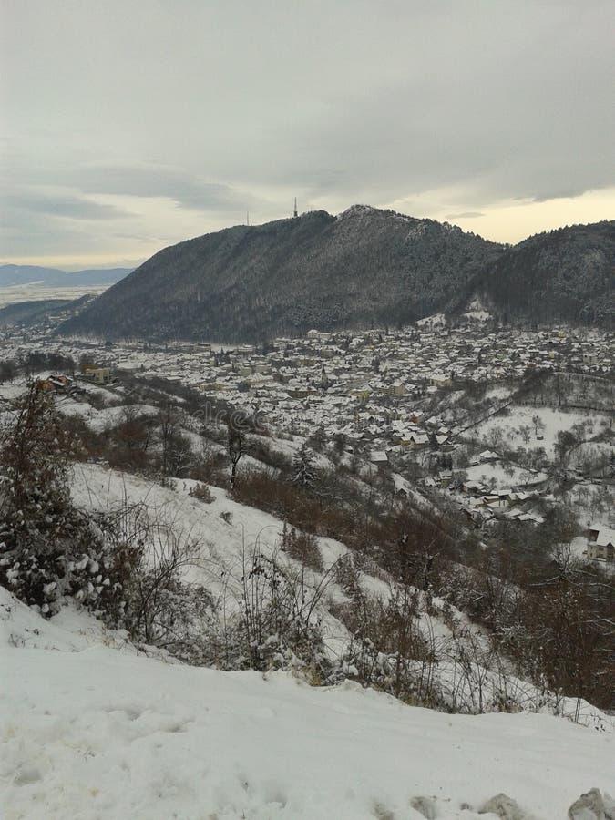 BraÈ™ov το χειμώνα 2016 στοκ φωτογραφίες