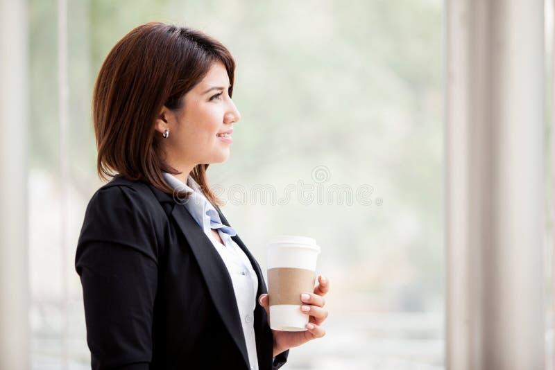 Brać kawową przerwę zdjęcia stock