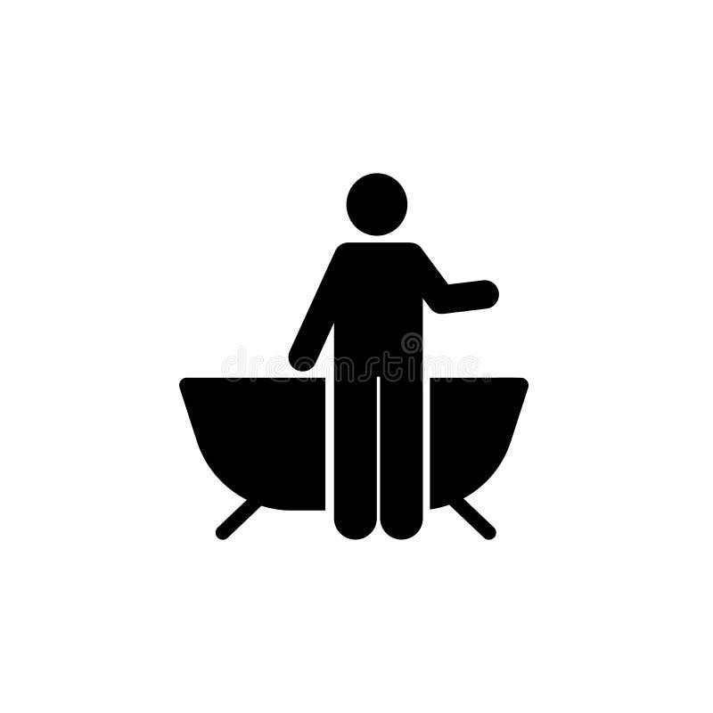 Brać prysznić, kąpać się, hotel, mężczyzna ikona Element hotelowa piktogram ikona Premii ilo?ci graficznego projekta ikona znaki  ilustracji