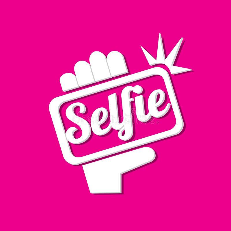 Brać Selfie fotografię na Mądrze telefonu pojęcia ikonie ilustracja wektor