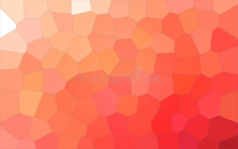 Bra abstrakt illustration av den orange färgrika stora sexhörningen Användbar bakgrund för ditt arbete royaltyfri illustrationer