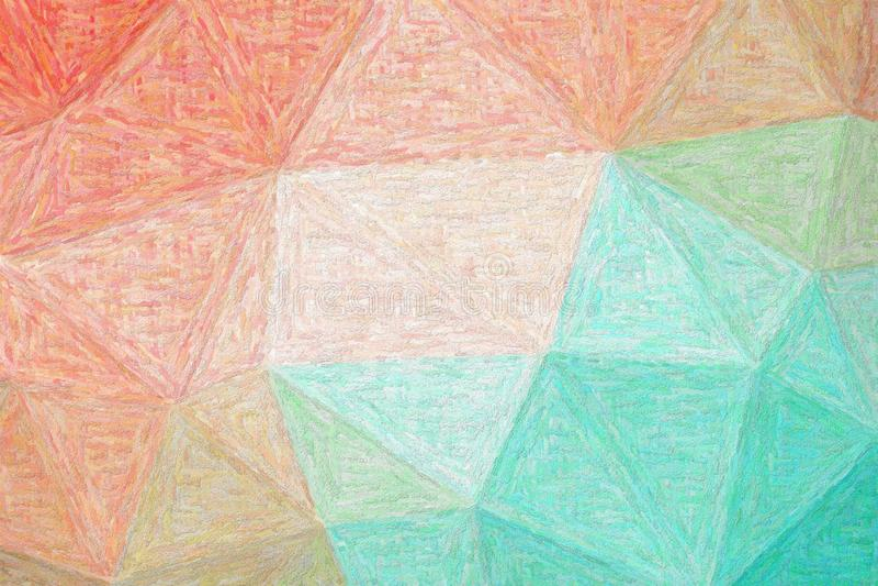 Bra abstrakt illustration av grön, blå och röd impressionismImpasto målarfärg Härlig bakgrund för dina tryck vektor illustrationer