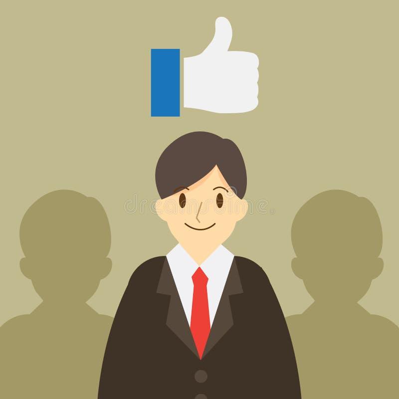 Bra affärsman bilden för ledare 3d framförde laget Conept för affärsdesign stock illustrationer