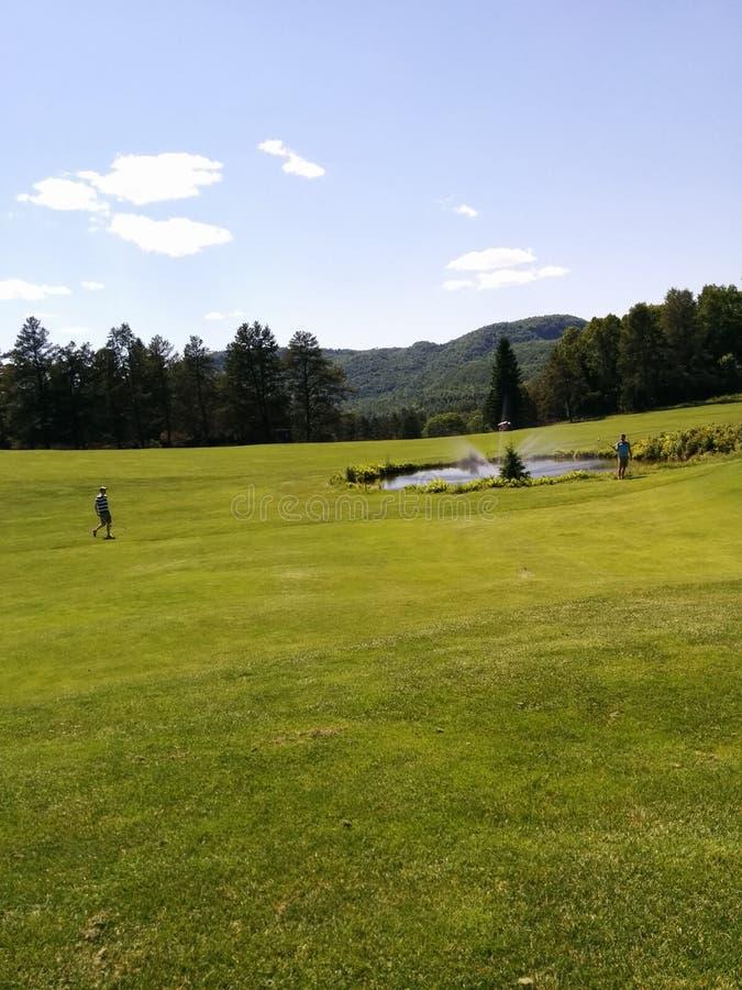 Bra dag för golf royaltyfria bilder