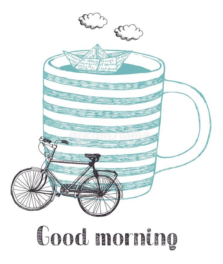 Bra morgon vektor illustrationer