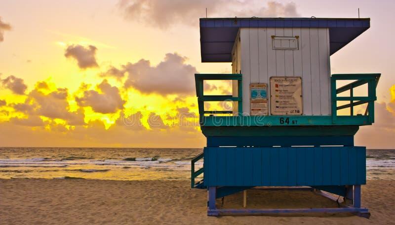 Bra morgon Miami Beach fotografering för bildbyråer