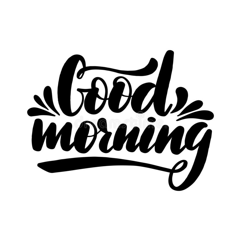 Bra morgon som märker hälsningkortet vektor illustrationer