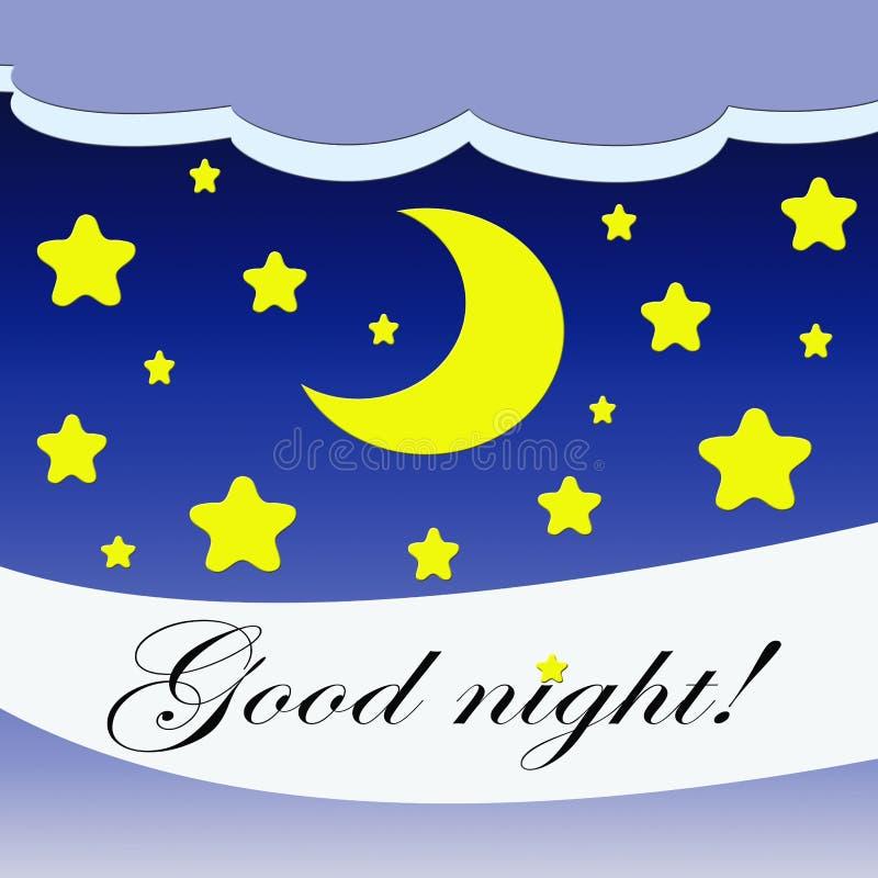 Bra natt! vektor illustrationer