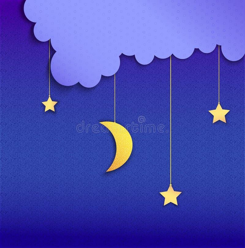 Bra natt royaltyfri illustrationer