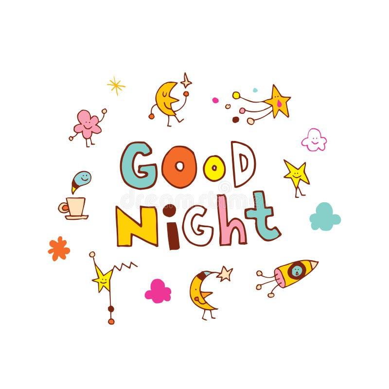 Bra natt stock illustrationer