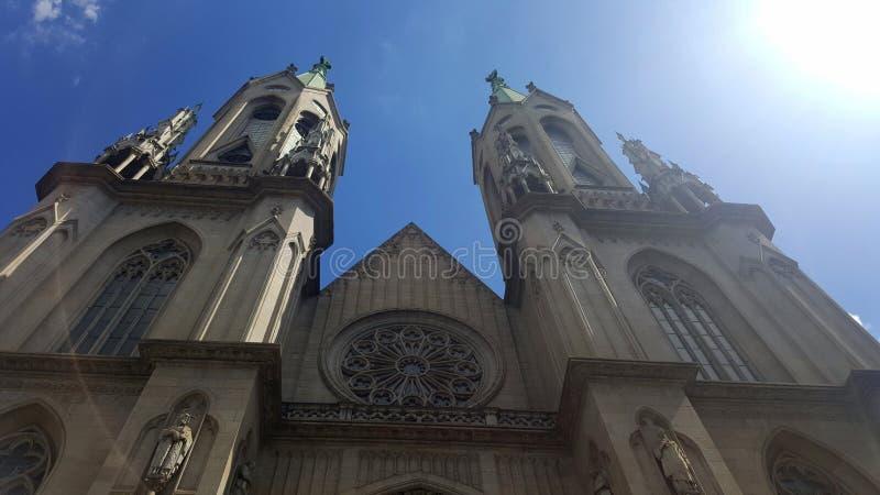 Bra sikt från domkyrkan de la Sé fotografering för bildbyråer