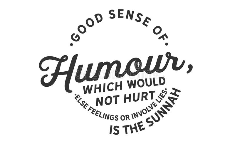 Bra sinne för humor, som inte gör ont andra känslor eller gäller lögner, är sunnahen vektor illustrationer