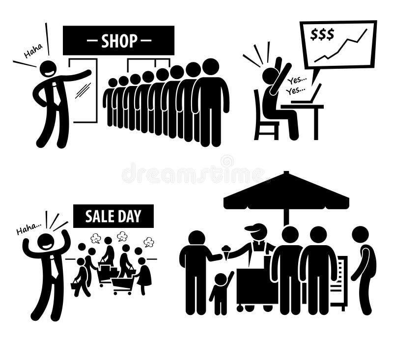 Bra symboler för affärsdag vektor illustrationer