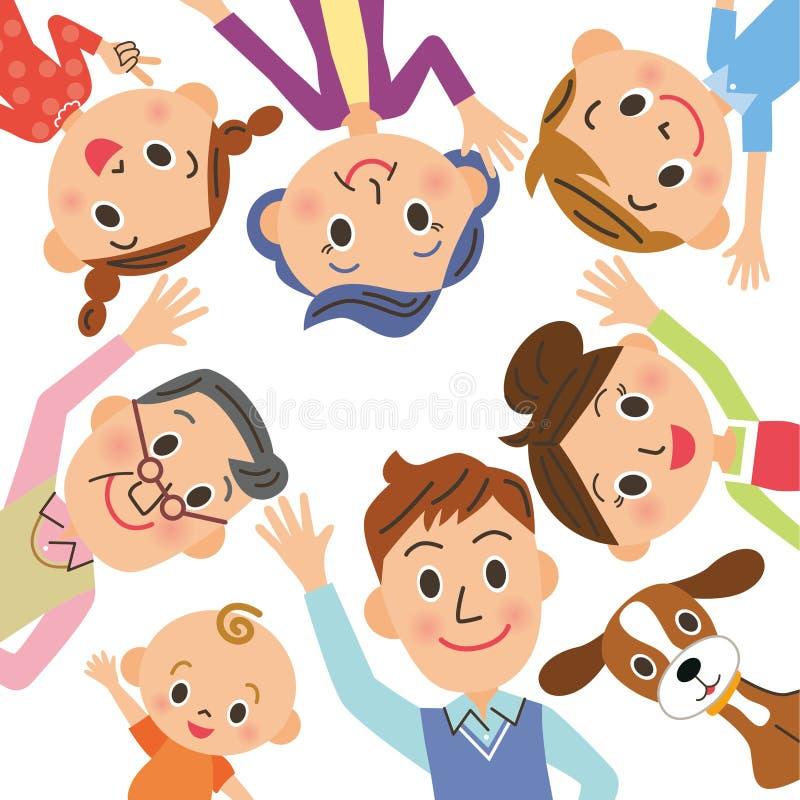 Bra vänfamilj stock illustrationer