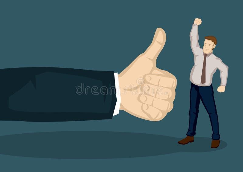 Bra värdering för anställdvektorillustration royaltyfri illustrationer