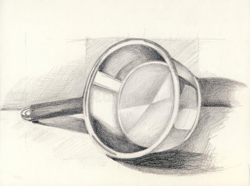 Braadpan vector illustratie