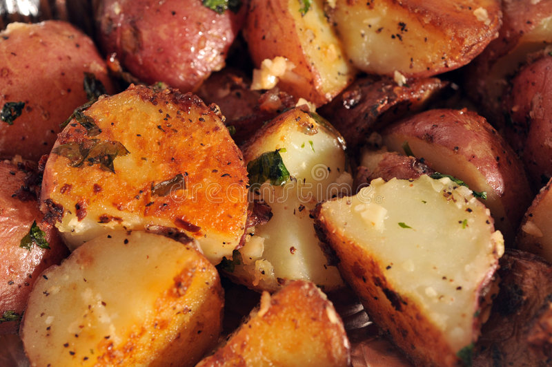 braadstuk aardappels royalty-vrije stock afbeelding