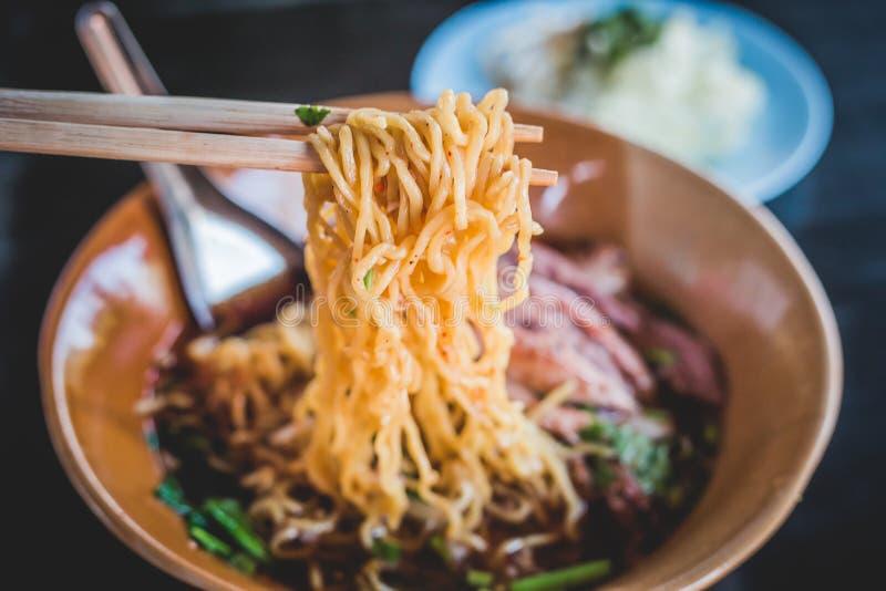 Braadstuk Duck Noodle royalty-vrije stock foto's