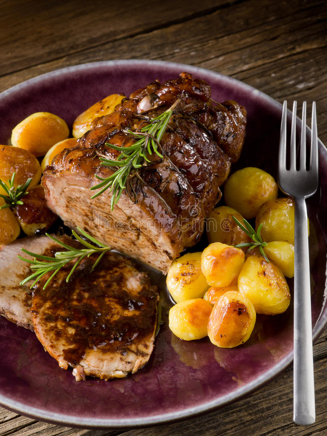 Braadstuk van kalfsvlees stock afbeelding