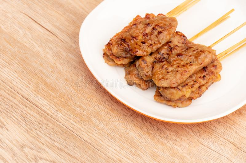 Braadstukvarkensvlees, Thais straatvoedsel royalty-vrije stock afbeeldingen