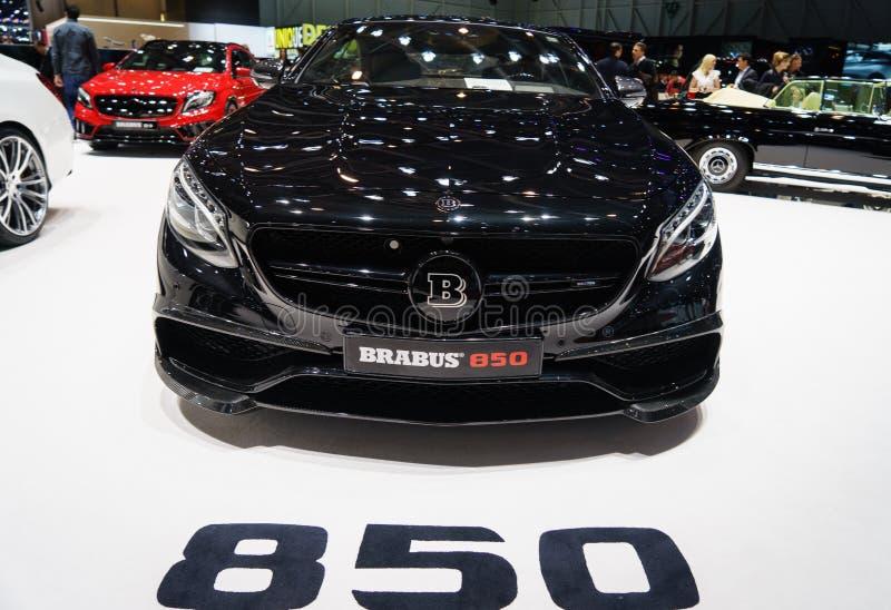 Brabus 850 S63 AMG, Motorowy przedstawienie Geneve 2015 obrazy royalty free