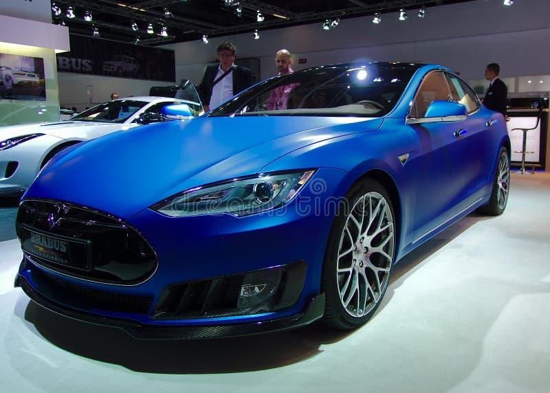 Brabus Tesla en los coches de IAA imagenes de archivo