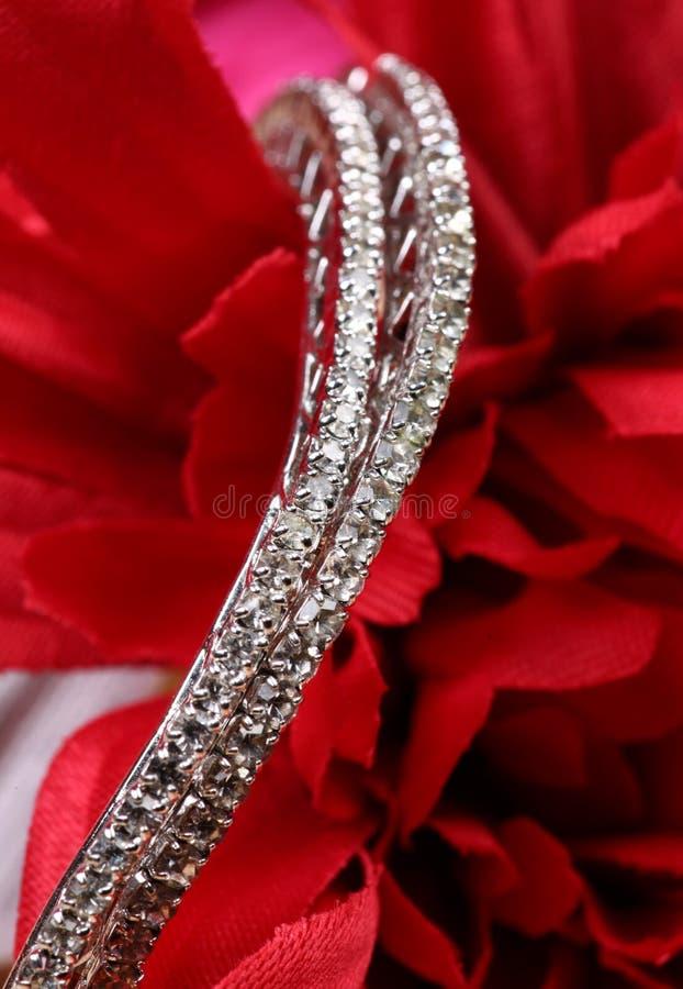 Braccialetti del diamante fotografie stock