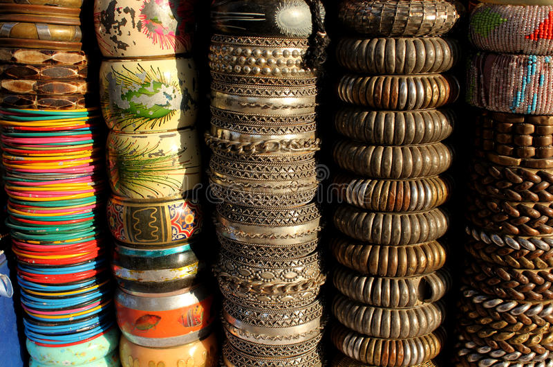 Braccialetti variopinti indiani fotografia stock