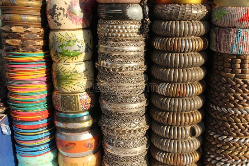 Braccialetti variopinti indiani fotografia stock libera da diritti