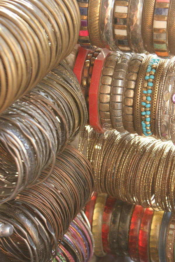 Braccialetti variopinti indiani immagine stock