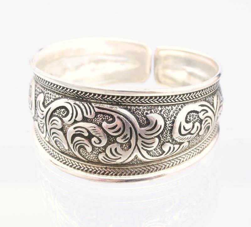 Braccialetto d'argento immagini stock libere da diritti