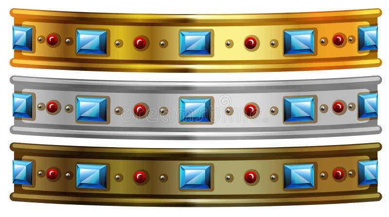 Braccialetto dei gioielli illustrazione di stock