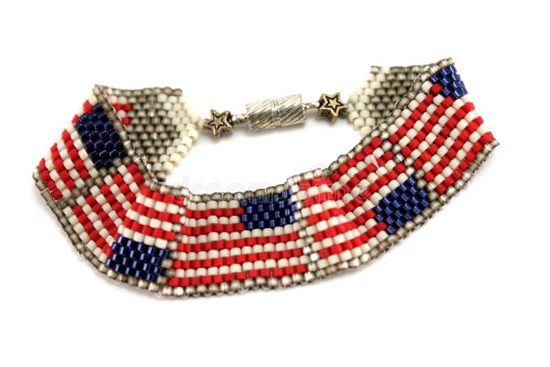 Braccialetto della bandiera americana fotografie stock
