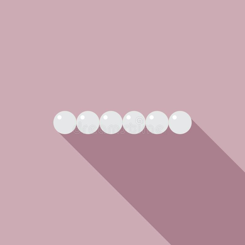 Braccialetto della perla nello stile piano illustrazione di stock