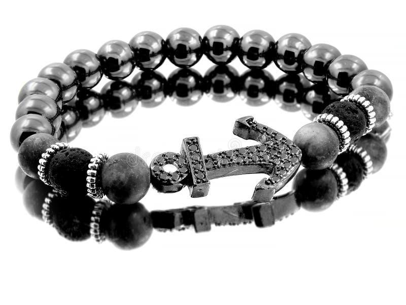 Braccialetto per gli uomini - Lava Balls Bijouterie dei gioielli immagini stock
