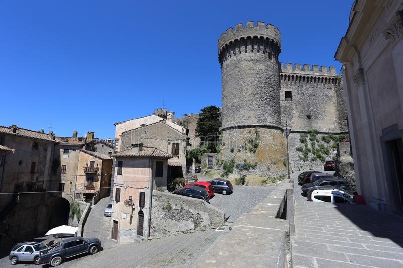 Bracciano, Italy  Orsini Castle in Bracciano stock photography