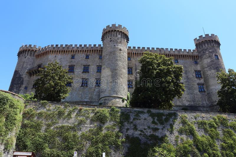 Orsini Castle view in Bracciano stock photo