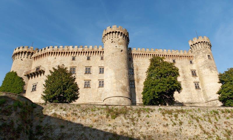 Bracciano slott nära Rome royaltyfri fotografi