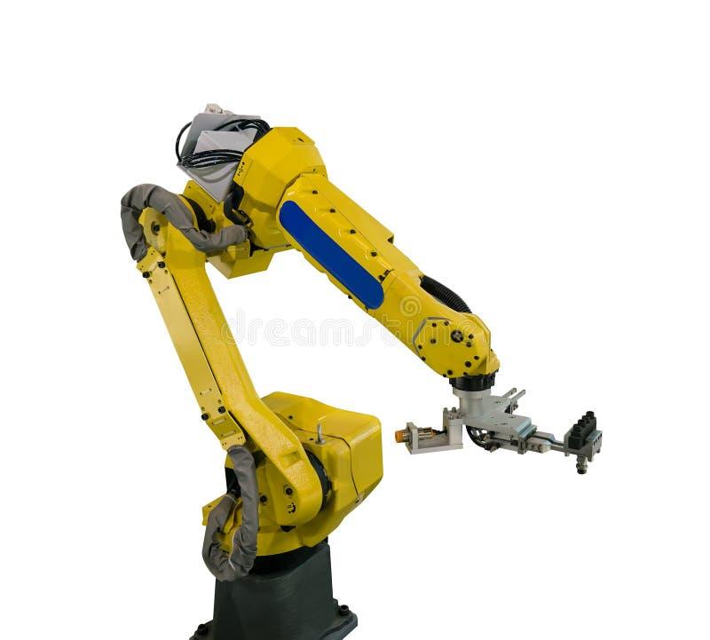 braccio del robot per industria fotografie stock