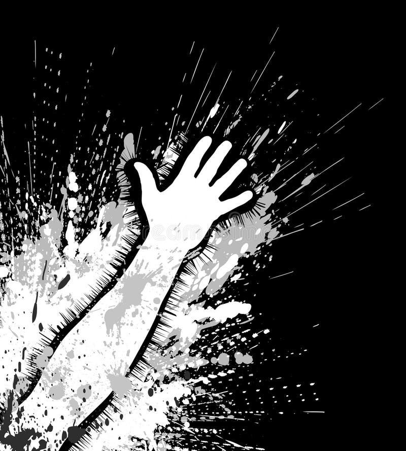 Braccio di Grunge illustrazione di stock