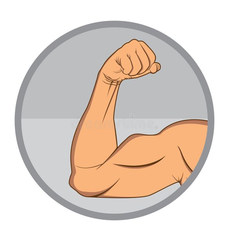 Braccio muscolare immagine stock