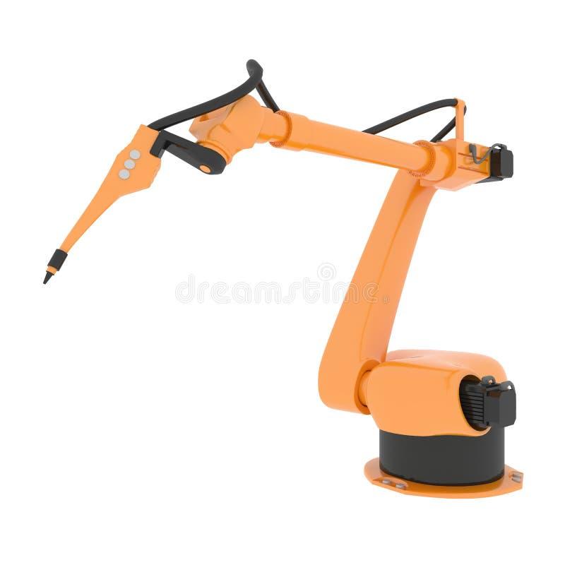 Braccio robot industriale illustrazione di stock