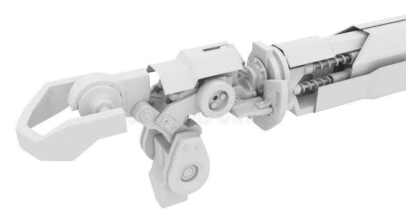 Braccio robot pesante, bianco illustrazione di stock