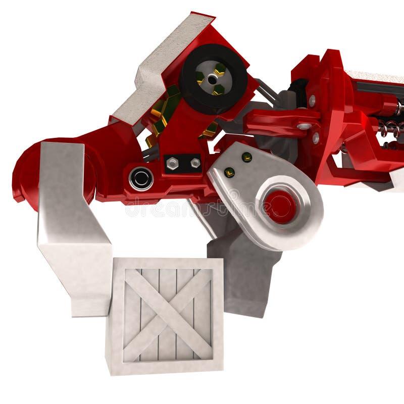 Braccio robot pesante, carico illustrazione vettoriale